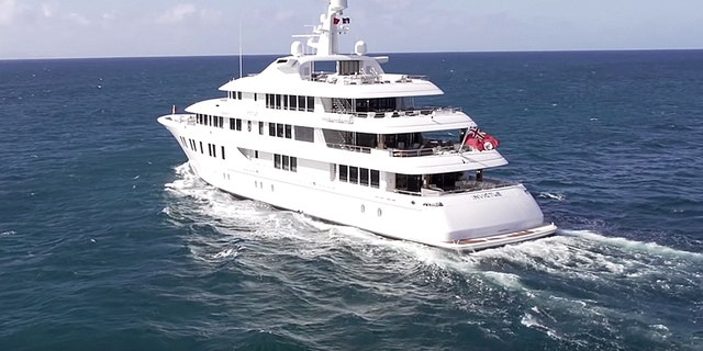 A photo of the luxury yacht owned by Rick Caruso.