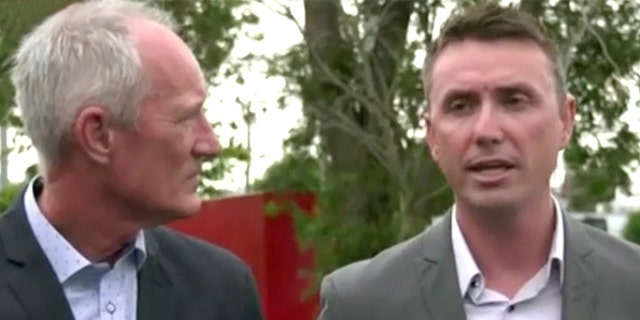 Australia's One Nation party officials, Steve Dickson (right) and James Ashby (left)  have blamed alcohol on a recording in which they apparently sought a donation from the U.S. National Rifle Association in an effort to change gun laws in the country.