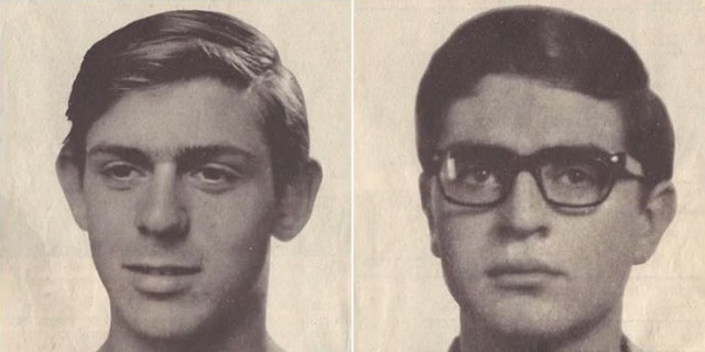 Odeh was responsible for a 1969 bombing that killed two students – Leon Kanner (left) and Eddie Joffe – in a Jerusalem supermarket.<br>