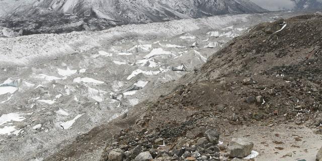 The Khumbu glacier.