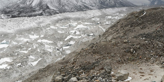The Khumbu glacier.
