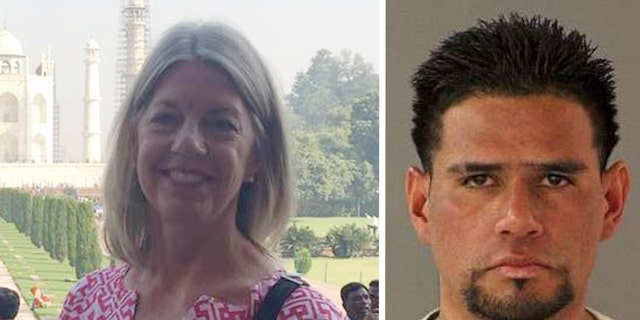 Carlos Eduardo Arevalo Carranza, 24, was arrested Monday night in the murder of 59-year-old Bambi Larson after police say he stalked her before stabbing her to death.