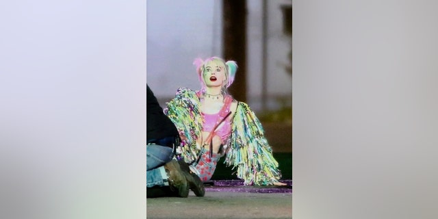 "Margot Robbie is seen filming an intense action scene for her latest film ""Birds of Prey (And the Fantabulous Emancipation of One Harley Quinn).'' Margot shot a scene in a truck where she jumps out and lets the truck crash to watch explosions."