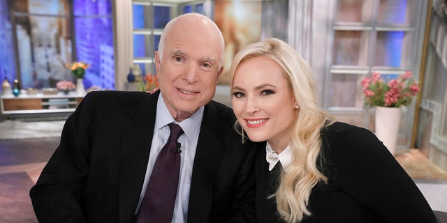 New York, NY - 2017: (L-R) Senator John McCain, Meghan McCain on 'The View', a visit for Meghan McCain's birthday, Monday, October 23, 2017. (Photo by Heidi Gutman /ABC via Getty Images)