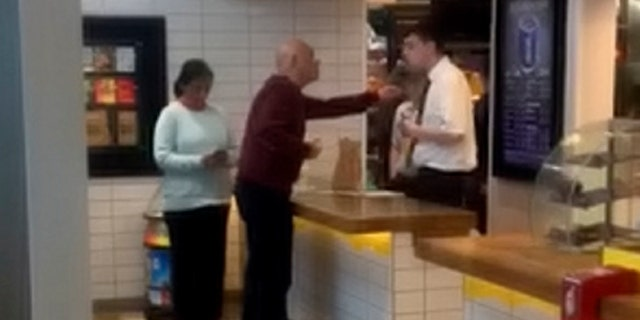 """When staff got his order wrong a second time, the furious customer approached the food counter and demanded to speak to head office. He said: """"Call the police— you honestly call the police, friends."""
