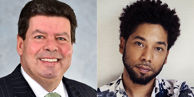 Illinois Rep. Michael McAuliffe (left) introduces a law to prevent companies employing Jussie Smollett (right) from receiving state tax credits.