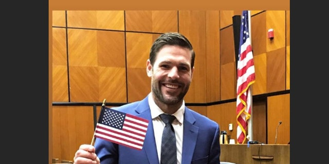 Carrie Underwood's husband Mike Fisher celebrated becoming an American citizen.