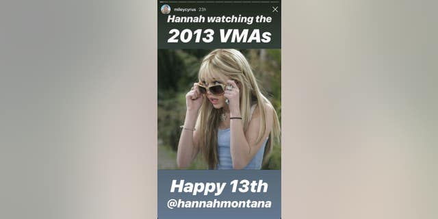 Miley pokes fun at Hannah's supposed reaction to the infamous twerking performance of 2013
