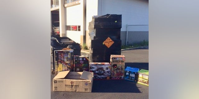 Authorities in California on Friday said they were able to intercept a hefty shipment of illegal fireworks which weighed more than 1,800 pounds.