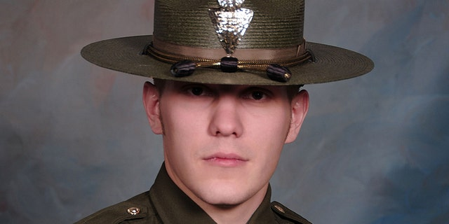 Montana Highway Patrol trooper Wade Palmer, 35, was shot and critically injured when he found the shooting suspecct