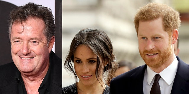 Piers Morgan (left) has previously been critical of the Duke and Duchess of Sussex.