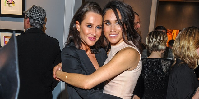 Jessica Mulroney and Meghan Markle are pictured here in March 2016. Mulroney explained in a recent interview with Harper's Bazaar why she won't ever talk about the Duchess of Sussex.