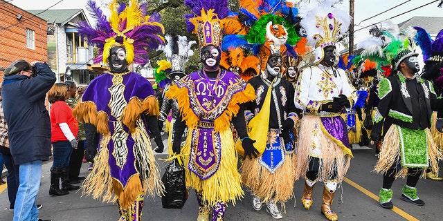 NEW ORLEANS, LA - FEBRUARY 13: Zulu Tramps march in the Zulu Social Aid