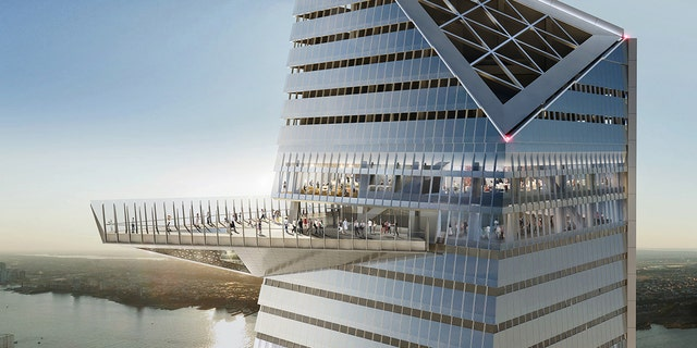 """The construction, itself compared to putting together a """"jigsaw puzzle in the sky,"""" will also feature a viewing window built into the outdoor platform."""