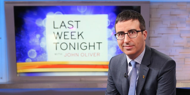 """John Oliver mocked Jay Leno during this week's episode of his hit HBO show, """"Last Week Tonight."""" (Photo by Fred Lee/ABC via Getty Images)"""
