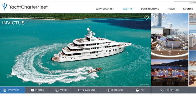 The yacht, which is available for charter, as People notes, features six decks and its own hot tub on the sundeck.