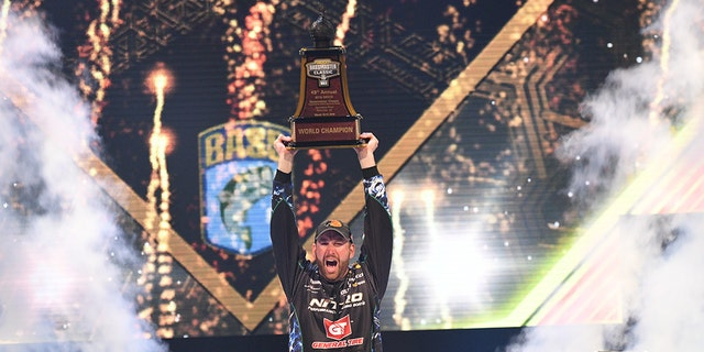The fishing pro was awarded with a $300,000 prize and a trophy at the 49th annual competition.