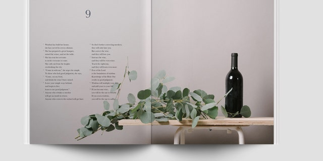 Alabaster Co. is releasing the book of Proverbs this month as the latest book of the Bible incorporating modern visual design.