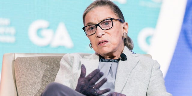WASHINGTON, D C , UNITED STATES - 2016/11/14: Ruth Bader Ginsburg, Associate Justice of the Supreme Court, at the 2016 JFNA GA. (Photo by Michael Brochstein/SOPA Images/LightRocket via Getty Images)