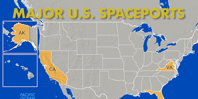 Vandenberg Air Force Base in California,Wallops Flight Facility in Virginia,The PacificSpaceportComplex in Alaska and NASA's Kennedy Space Center round out the top spaceports across the United States.
