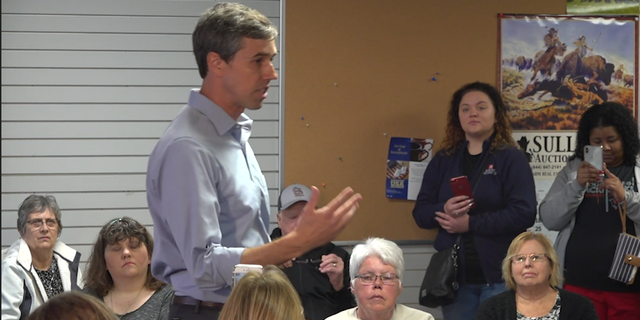 Democratic presidential candidate Beto O'Rourke met with voters in Iowa, sharing his views on healthcare and climate change, among several issues.