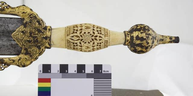 A photogrammetric image of the sword. (InHeritag3D)
