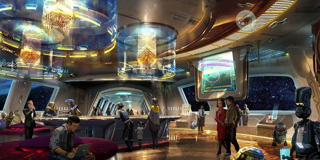 The parks are also planning to offer customers a fully immersiveexperience at Star Wars: Galaxy's Edge.