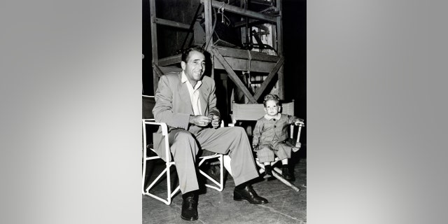 Stephen Bogart on set with his father.