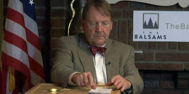 Dixville Notch Election Moderator Tom Tillotson prepares to count the ballots in the 2016 election, in which several votes were disputed. (FOX NEWS)
