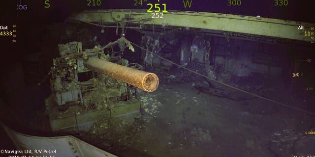 5-inch gun aboard USS Wasp