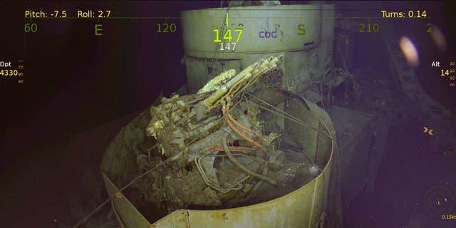 1.1 -inch aircraft guns on USS Wasp (Paul G. Allen's Vulcan Inc./Navigea Ltd, R/V Petrel)