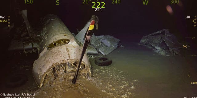 The wreckage of an Avenger aircraft. (Paul G. Allen's Vulcan Inc./Navigea Ltd, R/V Petrel)