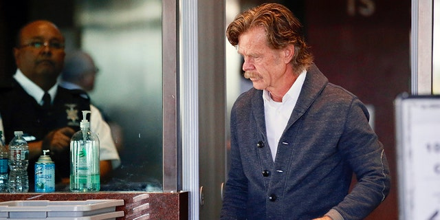 William H. Macy arrives at the federal courthouse in Los Angeles, on Tuesday, March 12, 2019.