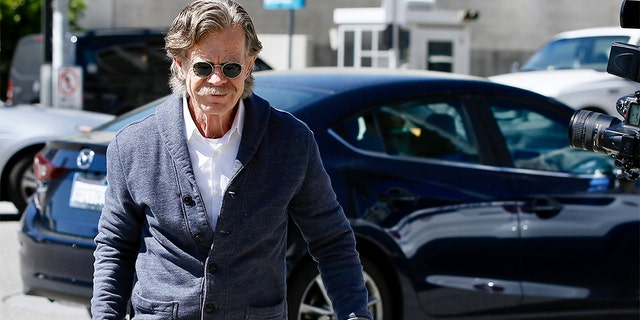Actor William H. Macy arrives at the federal courthouse in Los Angeles, on Tuesday, March 12, 2019.