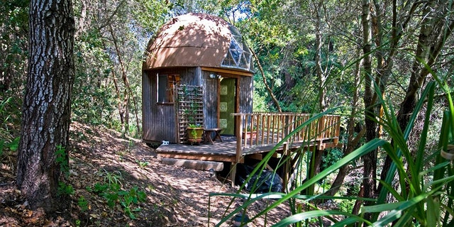 The mushroom-shaped cabin was first listed on Airbnb in 2009 by owners Kitty and Michael, and was one of the first properties to be listed outside of a city. Since then, it has had nearly 1,300 reviews from guests who have given it five stars for cleanliness, value and location.
