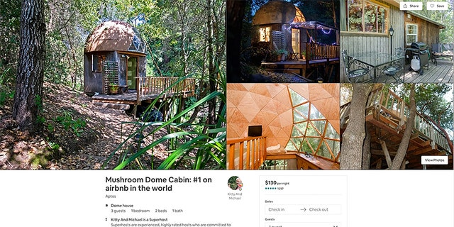 """The unique cabin can hold three guests at a time. The main bedroom boasts a queen sized bed with a Casper mattress, as well as a 32"""" flat screen TV. There's also a sofa that can be transformed into a second sleeping area."""