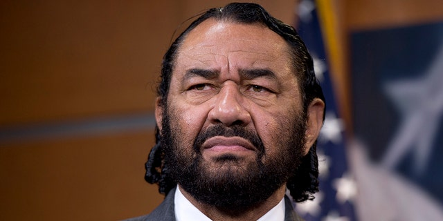 UNITED STATES - JANUARY 15: Rep. Al Green, D-Texas, speaks during a news conference in the Capitol Visitor Center on the full implementation of the Affordable Care Act in Texas. (Photo By Tom Williams/CQ Roll Call)