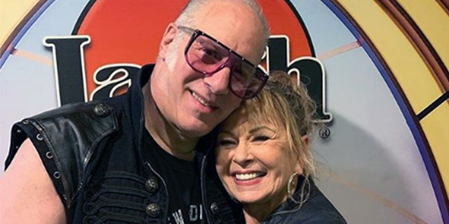 Andrew Dice Clay and Roseanne Barr