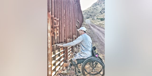 Brian Kolfage on a visit to the Arizona-Mexico border earlier this year.