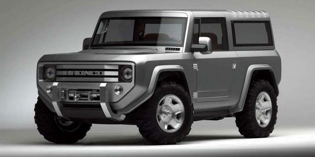 A 2004 Bronco concept featured many of the styling elements described by the dealers.