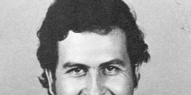 A mugshot taken by the regional Colombia control agency in Medellín in 1977.