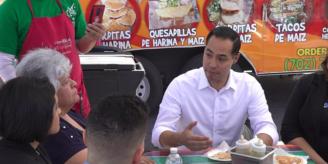 2020 presidential candidate Julian Castro meets with DREAMer families in Las Vegas, NV.