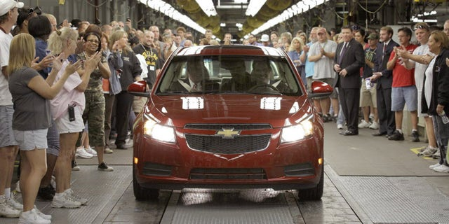 GM President Mark Reuss drove the first Cruze off of the assembly line in Sept. 2010.