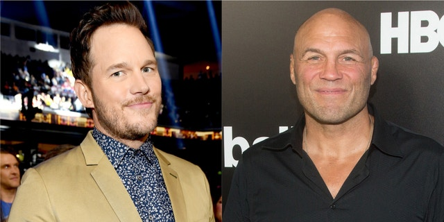 Chris Pratt and Randy Couture