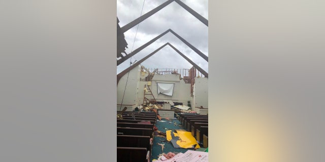 Damage toMount Zion Church in West Paducah, Ky.