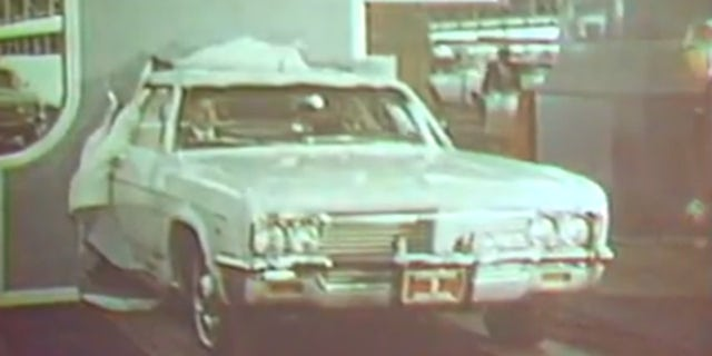 The first car built at the facility was a white 1966 Chevrolet Impala