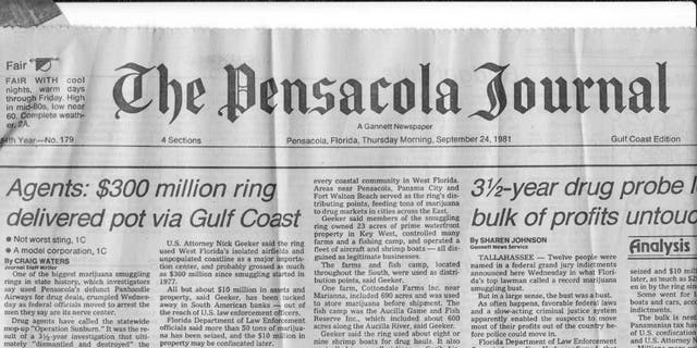 A 1983 newspaper clipping details the arrest of Bill Cobb, a one-time smuggler for Pablo Escobar.