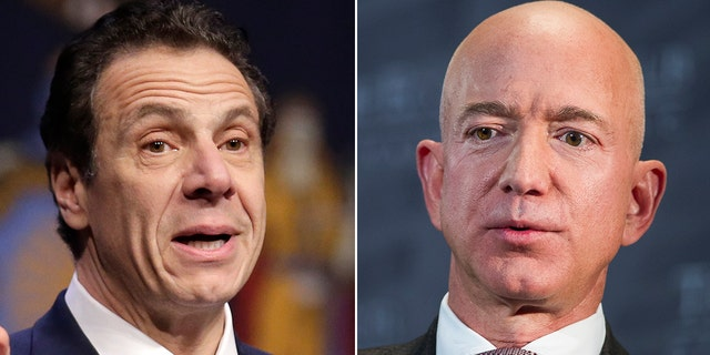 Gov. Andrew Cuomo, D-N.Y., has reached out to Amazon founder Jeff Bezos in a plea to win back the tech company, a report said Thursday. (Associated Press)