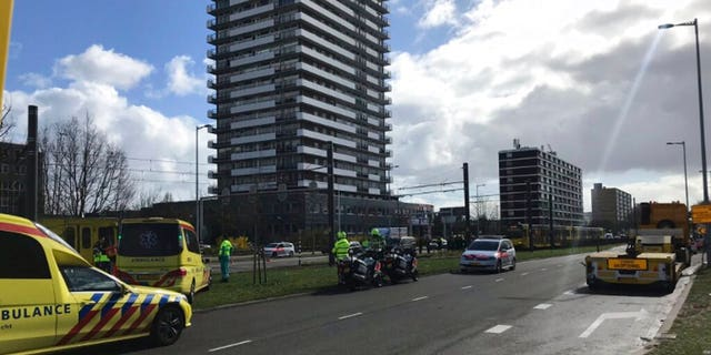 """Police in the central Dutch city of Utrecht said that """"multiple"""" people have been injured as a result of a shooting in a tram in a residential neighborhood."""
