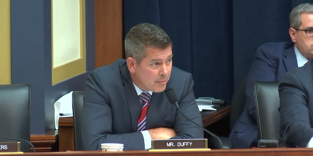 """Rep. Sean Duffy, a Wisconsin Republican, mocked Ocasio-Cortez's plan to combat climate change during the Financial Services Committee hearing on Monday, introducing an amendment to a homelessness bill that would create """"green"""" standards, to show the impracticability of the Democrat's plan."""